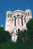 Cathedral. Photo of catholic cathedral taken in lyon in france at suny day royalty free stock images