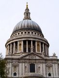 Cathedral. St pauls cathedral in central london with dome and pillars Stock Image
