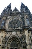 Cathedral. Entrance in Prague Stock Photos