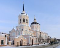 Cathedral. Christian cathedral. Russia.  Tomsk Stock Photo