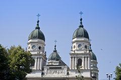 Cathedral. St. Paraschiva Metropolitan Cathedral In Iasi The Largest Romanian Orthodox Church Stock Photography