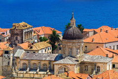 Cathedral. In city Dubrovnik - Europe Royalty Free Stock Photos