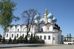 The cathedral. Of the annunciation in kazan kremlin, russia royalty free stock image