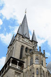Cathedral in Aachen. Tower of cathedral in Aachen, Germany Royalty Free Stock Photography