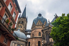 Cathedral in Aachen Stock Image