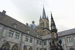 Cathedral in aachen, germany Royalty Free Stock Photos