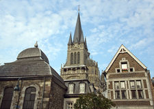 Cathedral in aachen, germany Royalty Free Stock Photography