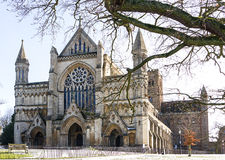 Cathedral and Abbey Church of Saint Alban in St.Albans, UK Royalty Free Stock Photo