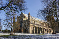 Cathedral and Abbey Church of Saint Alban in St.Albans, UK Stock Image