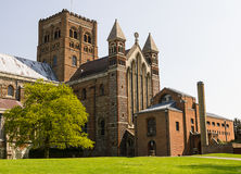 Cathedral and Abbey Church of Saint Alban in St.Albans, UK Stock Photography