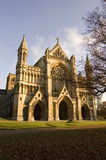Cathedral and Abbey Church of St Alban. The Cathedral and Abbey Church of St Alban, St Albans, Hertfordshire, UK. Autumn afternoon Stock Image