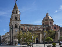 Cathedral of Acireale Stock Images
