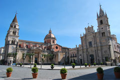 Cathedral of Acireale - Sicily Royalty Free Stock Image