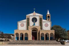 Cathedral of Adigrat in Ethiopia in Africa royalty free stock photography