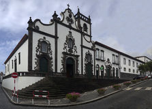 Cathedral and adjacent buildings in the town of Vila Franca do C Stock Image
