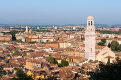 Cathedral and Aerial View of Verona - Italy Royalty Free Stock Images