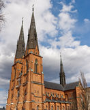 Cathedral against the sky Stock Photos