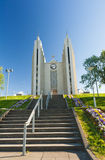 Cathedral in Akureyri Royalty Free Stock Photography