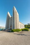 Cathedral in Akureyri Stock Photo