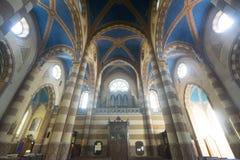 Cathedral of Alba (Cuneo, Italy), interior. Alba (Cuneo, Piedmont, Italy): interior of the medieval cathedral Royalty Free Stock Photos