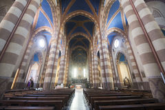 Cathedral of Alba (Cuneo, Italy), interior. Alba (Cuneo, Piedmont, Italy): interior of the medieval cathedral Stock Images