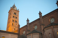 Cathedral of Alba at evening Royalty Free Stock Image