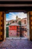 Cathedral in Albarracin Stock Photos