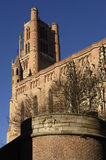 Cathedral of the Albi Cathedral, France. Cathedral of Albi, France (Gothic Style stock images