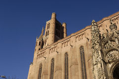 Cathedral of Albi, Midi-Pyrenees,France. Cathedral of Albi, France (Gothic Style royalty free stock images