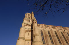 Cathedral of Albi,Midi-Pyrenees, France. Cathedral of Albi, France (Gothic Style stock photo