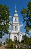 Cathedral of All Saints (1825). Tula, Russia. Belltower of Orthodox Cathedral of All Saints (circa 1825). Tula, Russia Stock Images