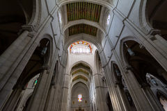 Cathedral of Almudena architecture, Madrid. Royalty Free Stock Photos