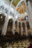 Cathedral of Almudena interior, Madrid Royalty Free Stock Photo