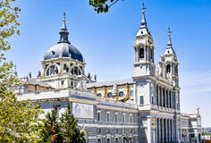 Cathedral of Almudena stock photo