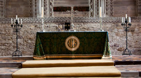 Cathedral Altar Royalty Free Stock Image