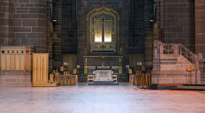 Cathedral alter. Alter inside historic Liverpool Cathedral Royalty Free Stock Image