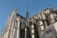 Cathedral of Amiens Stock Images