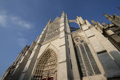 Cathedral of Amiens. Cathedral Notre-Dame, Amiens,Somme,Picardy region of France Stock Image
