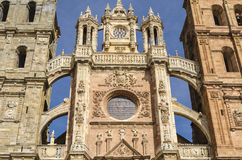 Cathedral. Ancient Astorga cathedral, Leon,  Spain Stock Photography