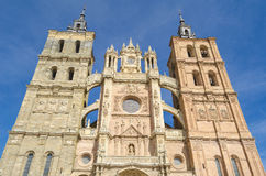 Cathedral. Ancient Astorga cathedral, Leon,  Spain Royalty Free Stock Photos