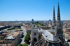 The Cathedral of Andrew in Bordeaux stock photo