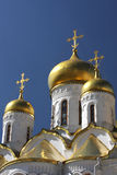 Cathedral of the Annunciation. This detailed vertical photo was taken in Cathedral Square at the Kremlin of The Cathedral of the Annunciation, Moscow, Russia Royalty Free Stock Photography