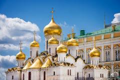 Cathedral of the Annunciation on Cathedral square, Moscow Kremlin Royalty Free Stock Images