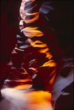 The Cathedral, Antelope Canyon. A slot canyon, sliced through the mesa by rushing water, located in Colorado Plateau royalty free stock images