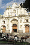 The cathedral of Antigua. On Guatemala royalty free stock photography