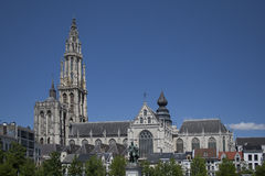 Cathedral in Antwerp Stock Image