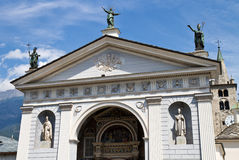 Cathedral of Aosta Royalty Free Stock Photos