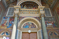 Cathedral of Aosta. A view of cathedral of Aosta Stock Images