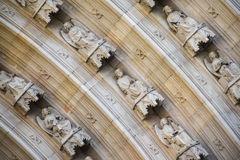 Cathedral arch detail Stock Photography
