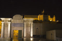 Cathedral and arch of triumph. Cordoba, Spain Royalty Free Stock Photo